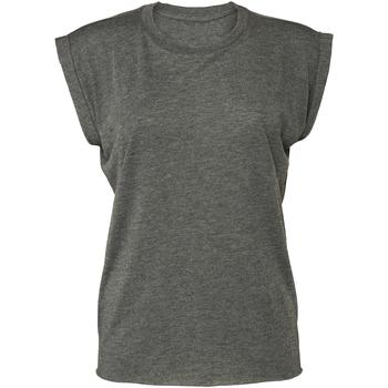 Vêtements Femme T-shirts manches courtes Bella + Canvas BE8804 Gris foncé chiné