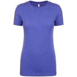 Vêtements Femme T-shirts manches courtes Next Level NX6710 Bleu roi chiné