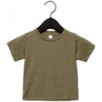 Vêtements Enfant T-shirts manches courtes Canvas CA3413T Vert kaki