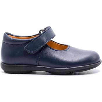 Chaussures Fille Ballerines / babies Boni & Sidonie Ballerines scratchées en cuir - COLLEGE Bleu Marine