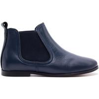 Chaussures Enfant Boots Boni & Sidonie Bottines boots en cuir - GILDAS Bleu Marine