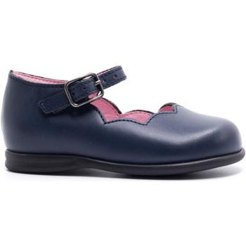 Chaussures Fille Ballerines / babies Boni & Sidonie Babies haute en cuir à boucle - LINDA Bleu Marine