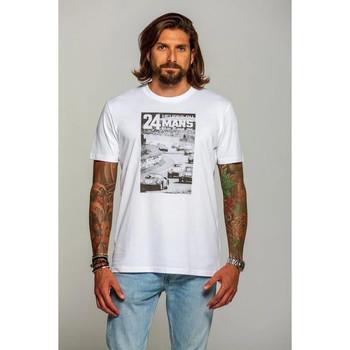 Vêtements Homme T-shirts manches courtes 24H Le Mans NB1964 BLANC Blanc