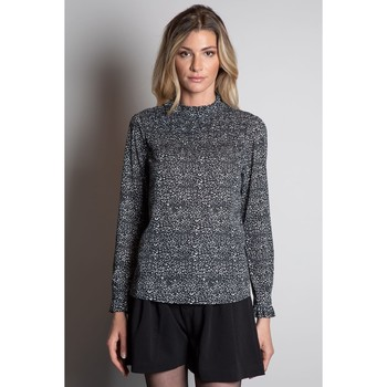Vêtements Femme Tops / Blouses Deeluxe Blouse CHRISTA Leo Black