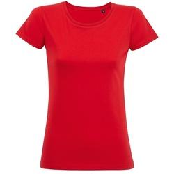 Vêtements Femme T-shirts manches courtes Sols 02077 Rouge