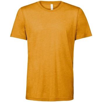 Vêtements T-shirts manches courtes Bella + Canvas CV3413 Jaune foncé chiné
