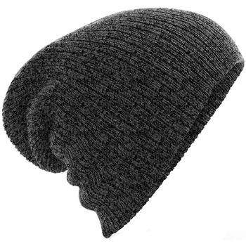 Accessoires textile Bonnets Beechfield B449 Gris foncé chiné
