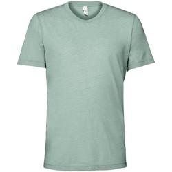 Vêtements T-shirts manches courtes Bella + Canvas CV3413 Bleu pâle chiné