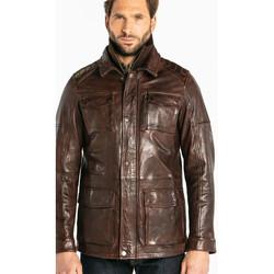 Vêtements Homme Vestes en cuir / synthétiques Daytona RODEO+IC LAMB PAOLO DARK COGNAC Cognac
