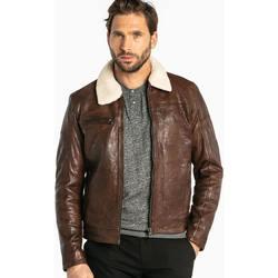 Vêtements Homme Vestes en cuir / synthétiques Daytona NENTLEY+FUR LAMB PAOLO DARK COGNAC Cognac