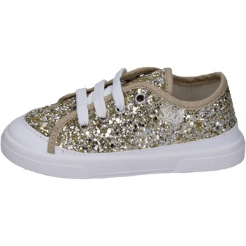 Chaussures Fille Baskets mode Solo Soprani sneakers glitter platine