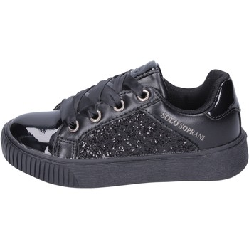 Chaussures Fille Baskets mode Solo Soprani sneakers glitter noir