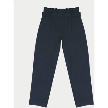 Vêtements Fille Pantalons Little Cerise Pantalon jenniegi bleu-noir BLUE / BLACK