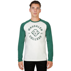 Vêtements T-shirts manches longues Oxford University - magdalen-raglan-ml Vert