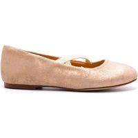 Chaussures Fille Ballerines / babies Boni & Sidonie Ballerine paillette - SOFIA Daim Rose Pale