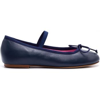 Chaussures Fille Ballerines / babies Boni & Sidonie Ballerine en cuir à noeud - MELANIE Bleu Marine