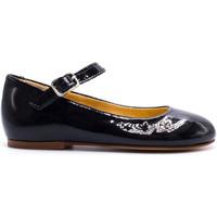 Chaussures Fille Ballerines / babies Boni & Sidonie Ballerine en cuir vernis à boucles - HORTENSE Noir