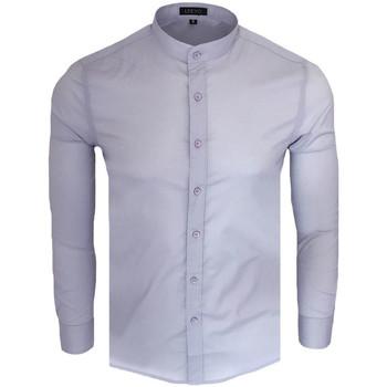 Vêtements Homme Chemises manches longues Monsieurmode Chemise col officier pour homme Chemise C-202 gris Gris