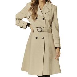 Vêtements Femme Trenchs Anastasia Trench-coat à ceinture pour femmes BEIGE