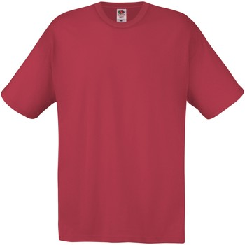 Vêtements Homme T-shirts manches courtes Fruit Of The Loom SS12 Grenat
