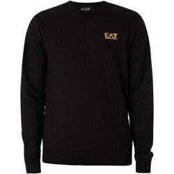 Vêtements Homme Sweats Emporio Armani EA7 Sweat-shirt avec logo sur la poitrine noir