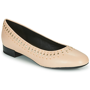 Chaussures Femme Ballerines / babies Geox D WISTREY Rose / Doré
