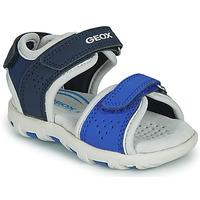 Chaussures Garçon Sandales et Nu-pieds Geox B SANDAL PIANETA Bleu