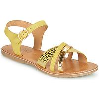 Chaussures Fille Sandales et Nu-pieds Geox J SANDAL EOLIE GIRL Jaune / Doré