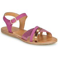 Chaussures Fille Sandales et Nu-pieds Geox J SANDAL EOLIE GIRL Rose / Doré