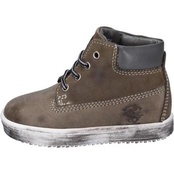 Chaussures Garçon Boots Beverly Hills Polo Club bottines cuir nubuck gris