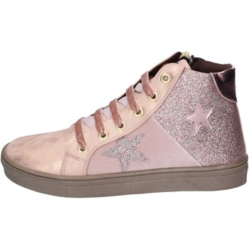 Chaussures Fille Baskets mode Asso sneakers cuir synthétique rose