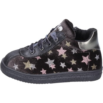 Chaussures Fille Baskets mode Asso sneakers velours gris