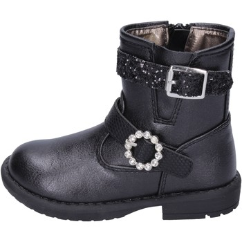 Chaussures Fille Bottines Asso bottines cuir synthétique noir
