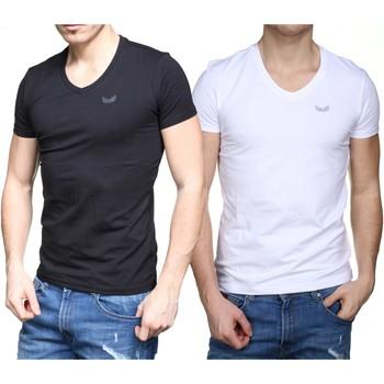Vêtements Homme T-shirts manches courtes Kaporal Tee Shirt pack x2 Blanc