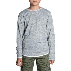 Vêtements Garçon T-shirts manches longues Deeluxe T-Shirt MOHANSON Light Grey Mel