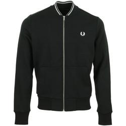 Vêtements Homme Vestes de survêtement Fred Perry Zip Through Sweatshirt noir