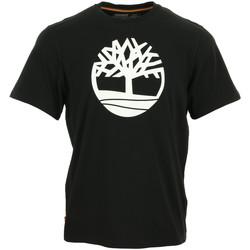 Vêtements Homme T-shirts manches courtes Timberland Kennebec River Brand Tree noir