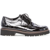 Chaussures Femme Derbies Gabor Derbies vernie talon  talon bloc dessus/effet galvanisé Noir