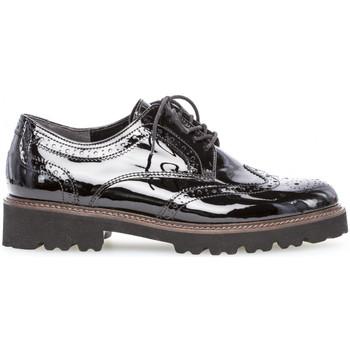 Chaussures Gabor Derbies vernie talon talon bloc dessus/effet galvanisé