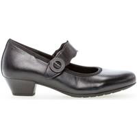 Chaussures Femme Escarpins Gabor Trotteurs cuir lisse talon  bloc couches cuir Noir