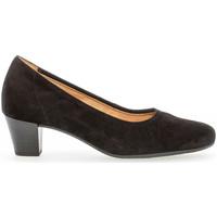 Chaussures Femme Escarpins Gabor Escarpins cuir lisse talon  bloc couches cuir Noir