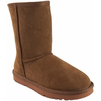 Chaussures Femme Bottes de neige Kelara K01207 cuir Marron