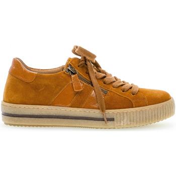 Chaussures Femme Baskets basses Gabor Baskets daim talon  plat Marron