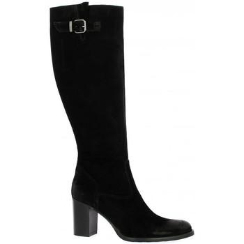Chaussures Femme Bottes Spazio 08 Bottes cuir velours Noir