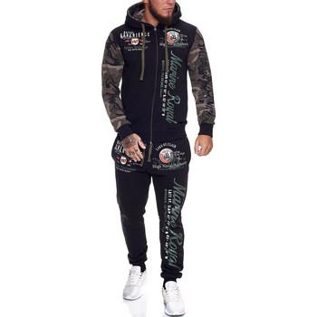 Vêtements Homme Pantalons de survêtement Violento Survêtement homme camouflage Survêt 512 vert Vert
