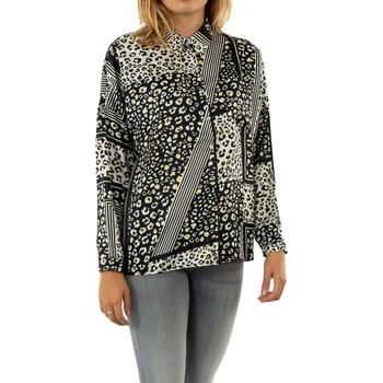 Vêtements Femme Chemises / Chemisiers Molly Bracken tl99a20 feline white/black gris