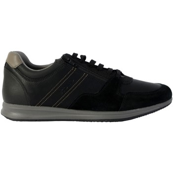 Chaussures Homme Baskets mode Geox Basket Avery Wax Black/Stone