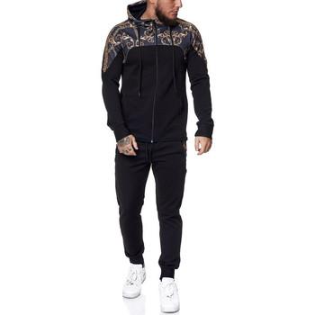 Vêtements Homme Pantalons de survêtement Monsieurmode Ensemble jogging fashion Survêtement 1470 noir Noir