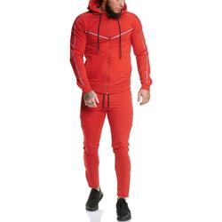 Vêtements Homme Pantalons de survêtement Monsieurmode Survêtement pour homme Survêt 13106 rouge Rouge