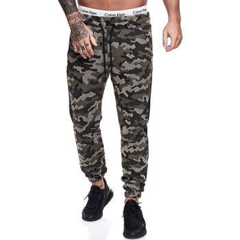 Vêtements Homme Pantalons de survêtement Violento Jogging camouflage pour homme Jogging 1211 vert Vert